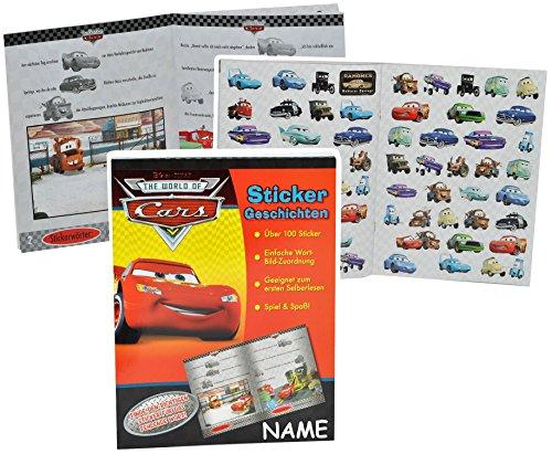 Lese Lern Buch Mit 100 Sticker Geschichten Disney Cars Lightning Mcqueen Incl Name Autos Cars Auto Ideal Zum Lesen Lernen Aufkleber Für